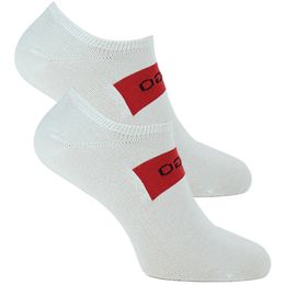Sneaker logo | 2-pack ankle socks - Cotton and stretch polyamide