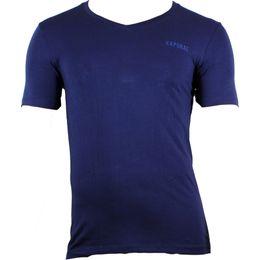 Navy | Camiseta - Algodón stretch