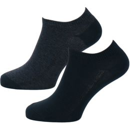 168sf | 2-pack ankle socks - Cotton and stretch nylon