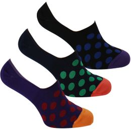 849B | 3-pack invisible socks - Cotton and stretch polyamide
