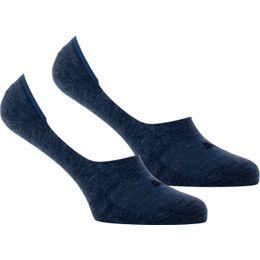 Footie   Lote de 2 pares de calcetines invisibles - Algodón y poliamida stretch