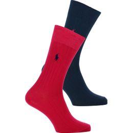 ASX71 | Lote de 2 pares de calcetines clásicos - Algodón, poliéster y nilón stretch