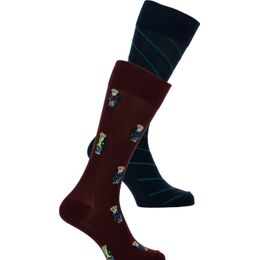 ASX66 | 2-pack socks - Cotton, nylon and stretch polyester