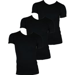 V-neck | 3-pack short-sleeved T-shirt - Stretch cotton