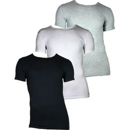 C-neck | 3-pack short-sleeved T-shirt - Stretch cotton
