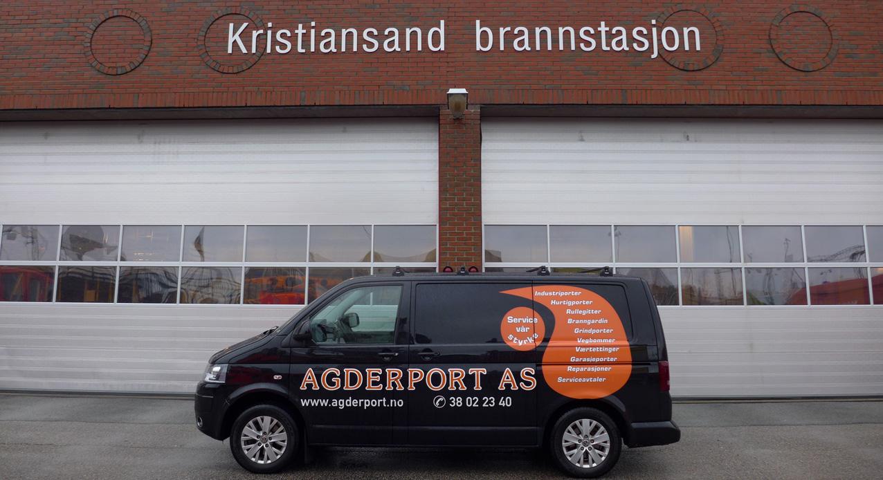 Leddheiseporter hos Kristiansand brannstasjon
