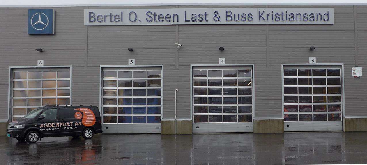 Industriportene til Bertel O. Steen Last og Buss i Kristiansand