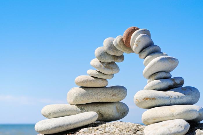 bilde av stein i fin natur