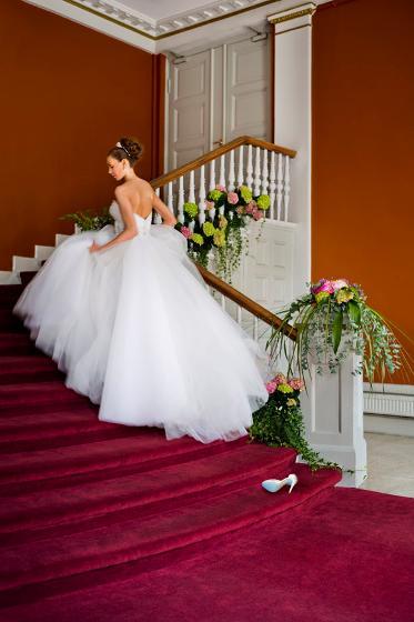 Bilde av brud i bryllupslokalene til Gamle Logen - Bryllupslokaler oslo