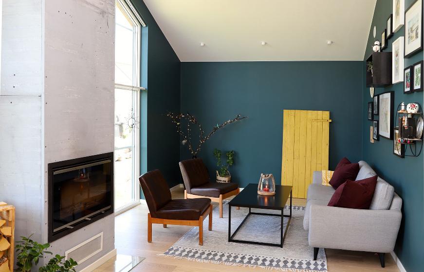 Sofaområde i stue. Foto.
