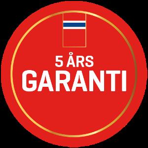 5 års garanti merke