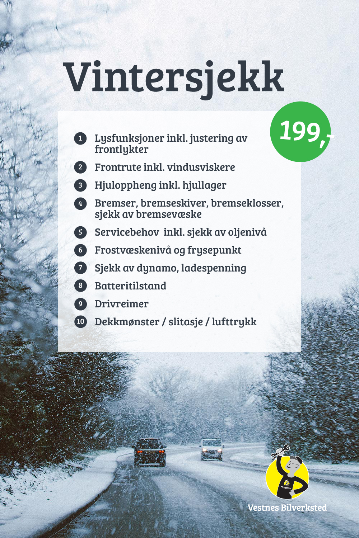 vintersjekk 199,-