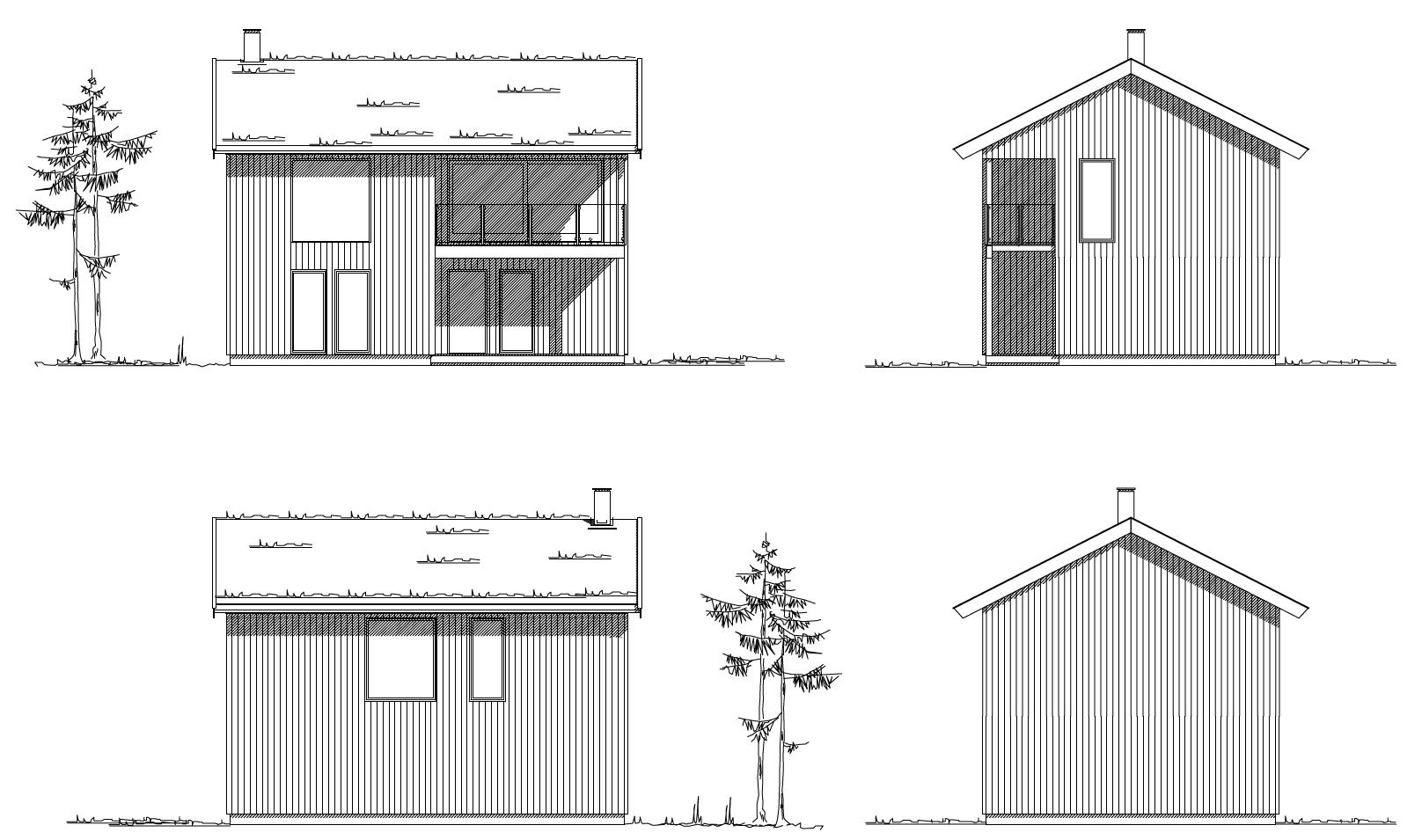 hytte a fasadetegninger