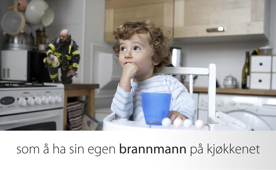 Komfyrvakt er som brannmann for barn på kjøkkenet