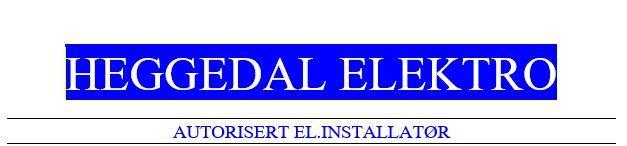 Heggedal Elektro Logo