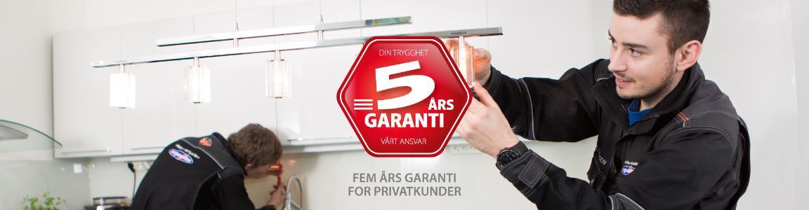 Kampanje: 5 års garanti for privatkunder bilde