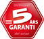 5 års garanti - merke