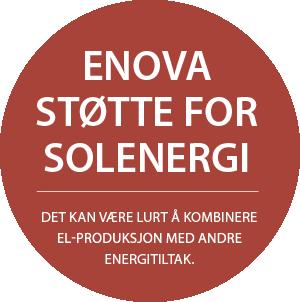 Enova-støtte for solenergi