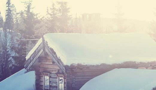 Bekvemt med varm hytte ved ankomst.