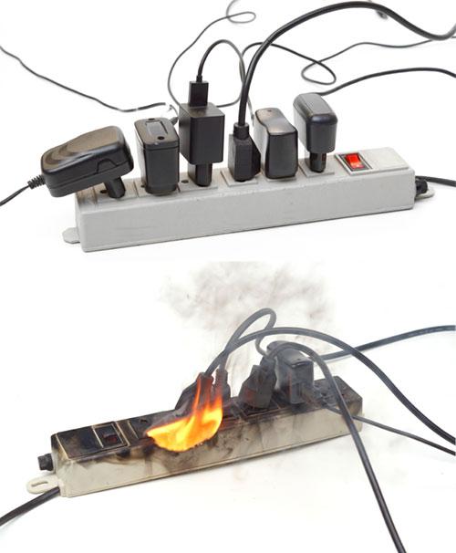 brann i elektrisk anlegg