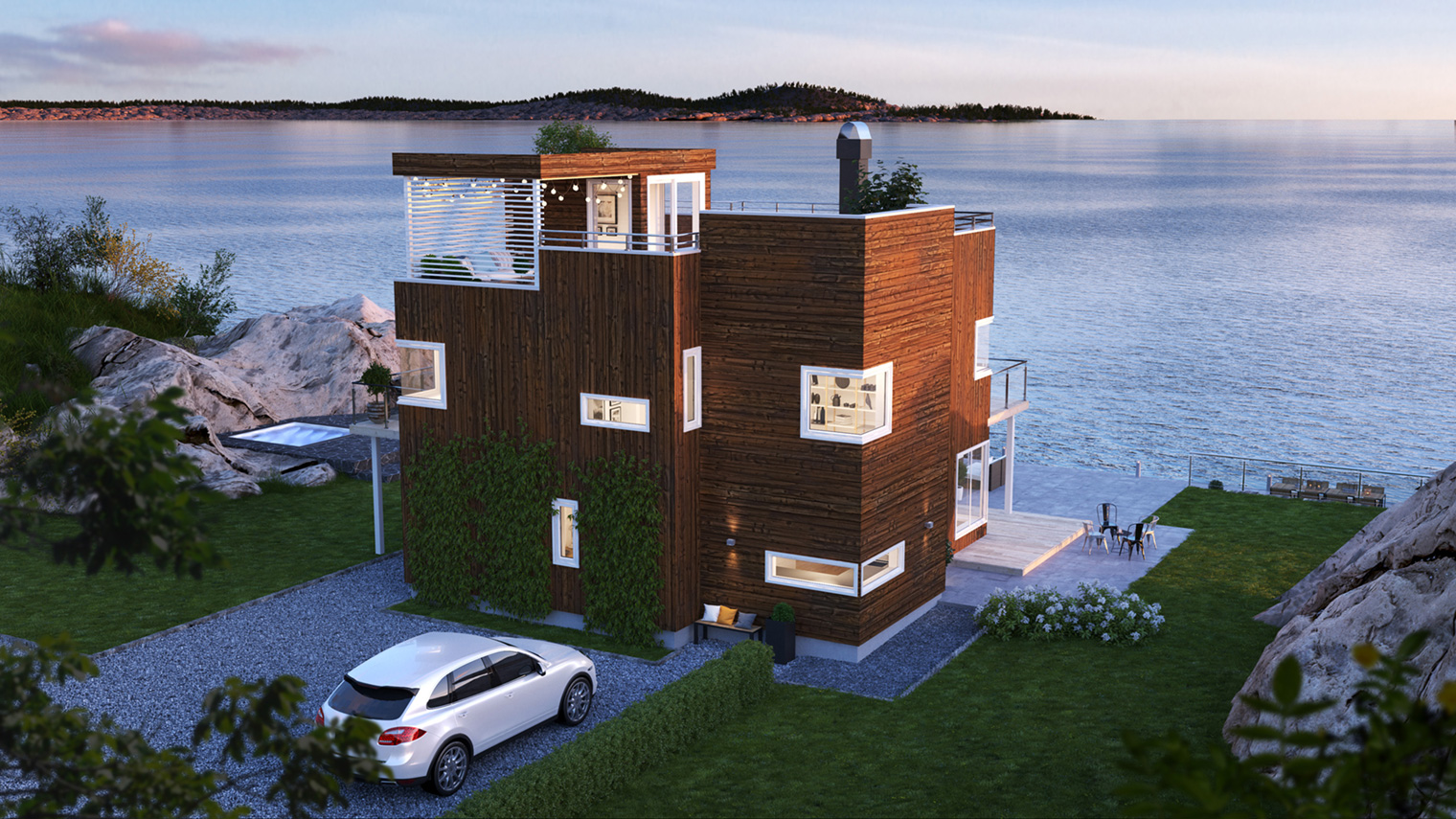 Norske Hus Qube hosmodell