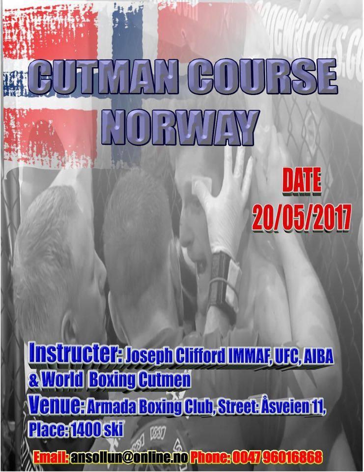 Norway Fight Night arrangerer cutman kurs!