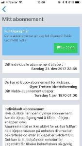Rubic Laget Mitt feilmelding om abonnement 22 kr