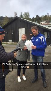 ØTI fikk penger til klubbhus fra Sparebankstiftelsen DNB!
