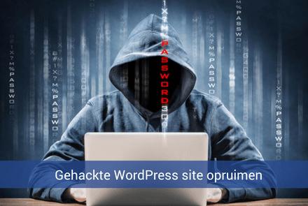 Gehackte WordPress site opruimen