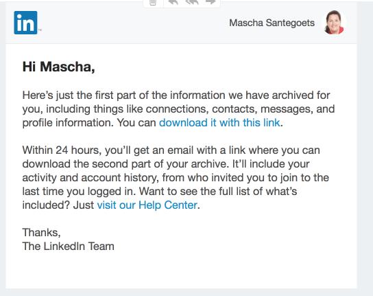 Email van Linkedin