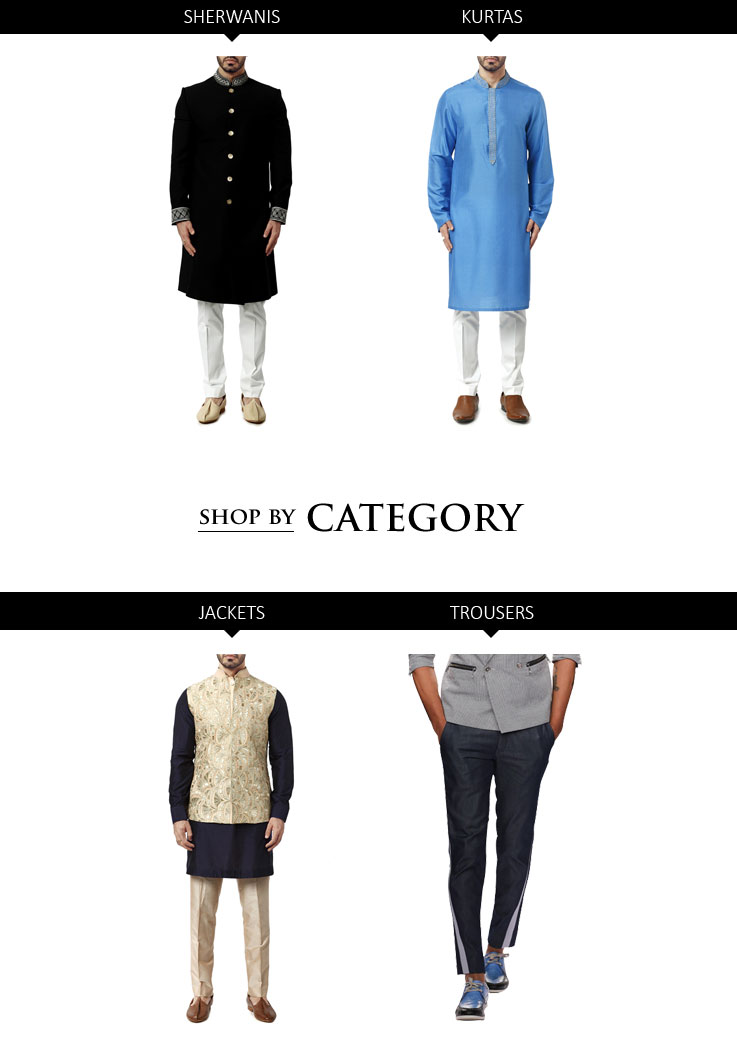 Indian Designer Menswear styles - Sherwanis and Kurtas