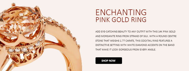 Enchanting Pink Gold Ring | Strand of Silk