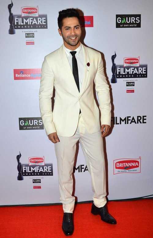 Varun Dhavan at Filmfare 2015