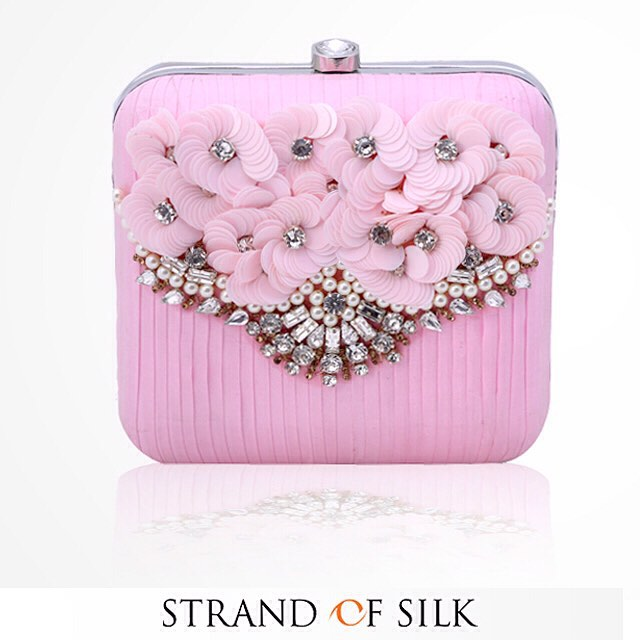 Pink Floral Clutch From Strand of Silk | Designer Focus: Ridhima Bagla, Aarbe