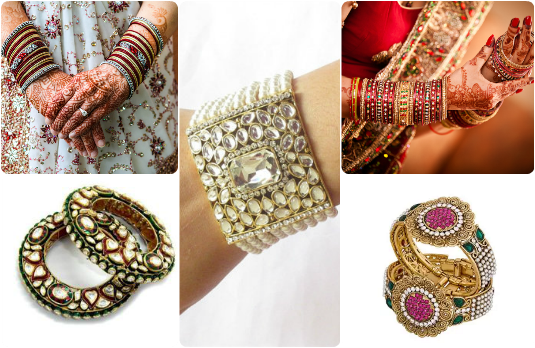 Bangles, Cuffs and Bracelets | Guide to Accessorising Indian Bridal Lehengas