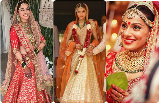 Traditional Celebrity Looks | Guide to Accessorising Indian Bridal Lehengas