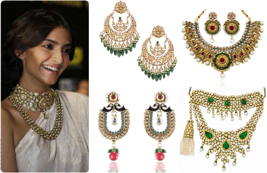 Necklaces and Earrings | Guide to Accessorising Indian Bridal Lehengas