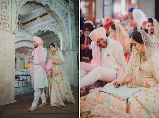 Refreshing New Indian Bride Groom Colour Combinations For 2018