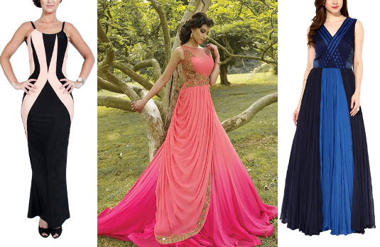 Contrast Gowns   Designer Indian Gowns That Are Perfect For Spring