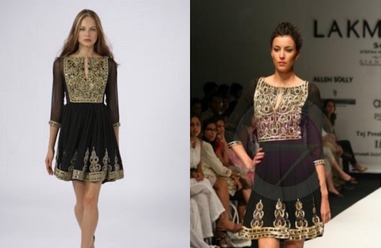 Nalandda Bhandari and Marchesa |  Copy Cat Indian Designers
