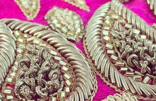 Dabka Embroidery - Sample Design of the coiled thread