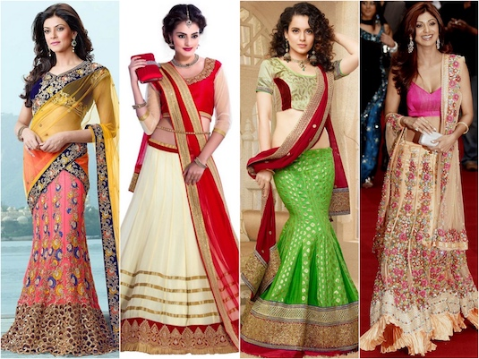 Evolution Of The Lehenga | 1990s Lehengas