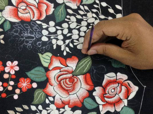 Gara Embroidery - Shading Design