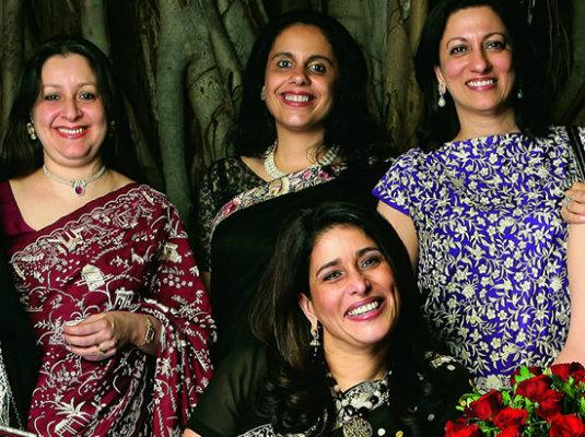 Gara Embroidery - Parsi Women in Sarees
