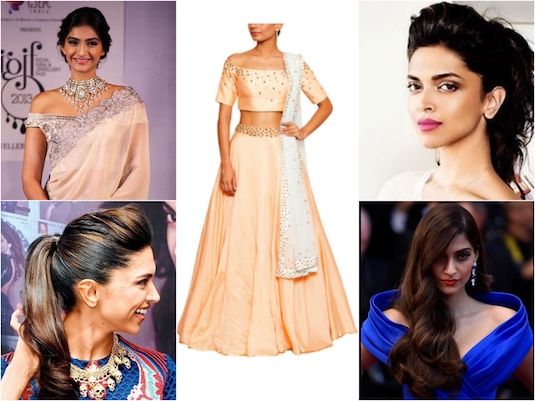 Hairstyles Necklines The Awesome Twosome Indian Fashion Blog