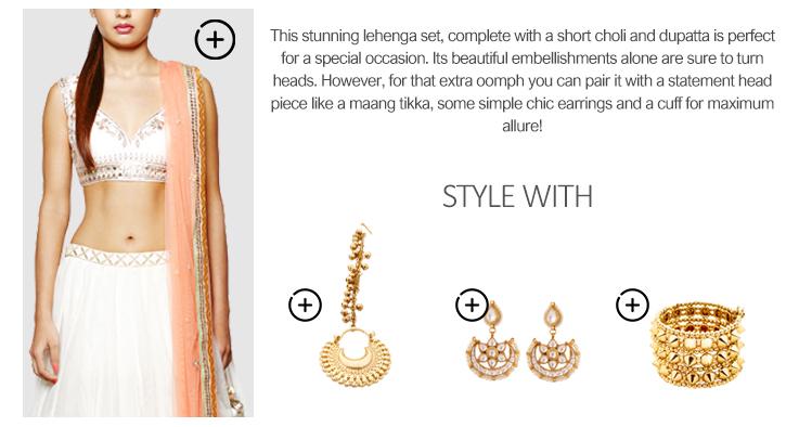 Indian Wedding Lehenga Styling Graphic