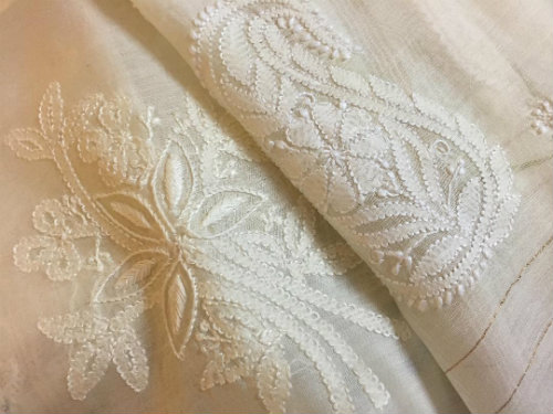 Journey Map - Chikankari Embroidery on Muslin