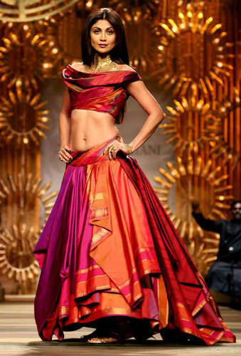Kanjeevaram Sarees - Shilpa Shetty in a Tarun Tahiliani Gown