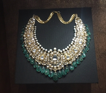 Antique diamond necklace at Indian National Museum