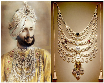 Necklace for Patiala Maharajah made by Cartier